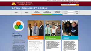B-Tech Community Portal Website Design