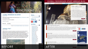 Global Crossroads Study Abroad Blog Redesign